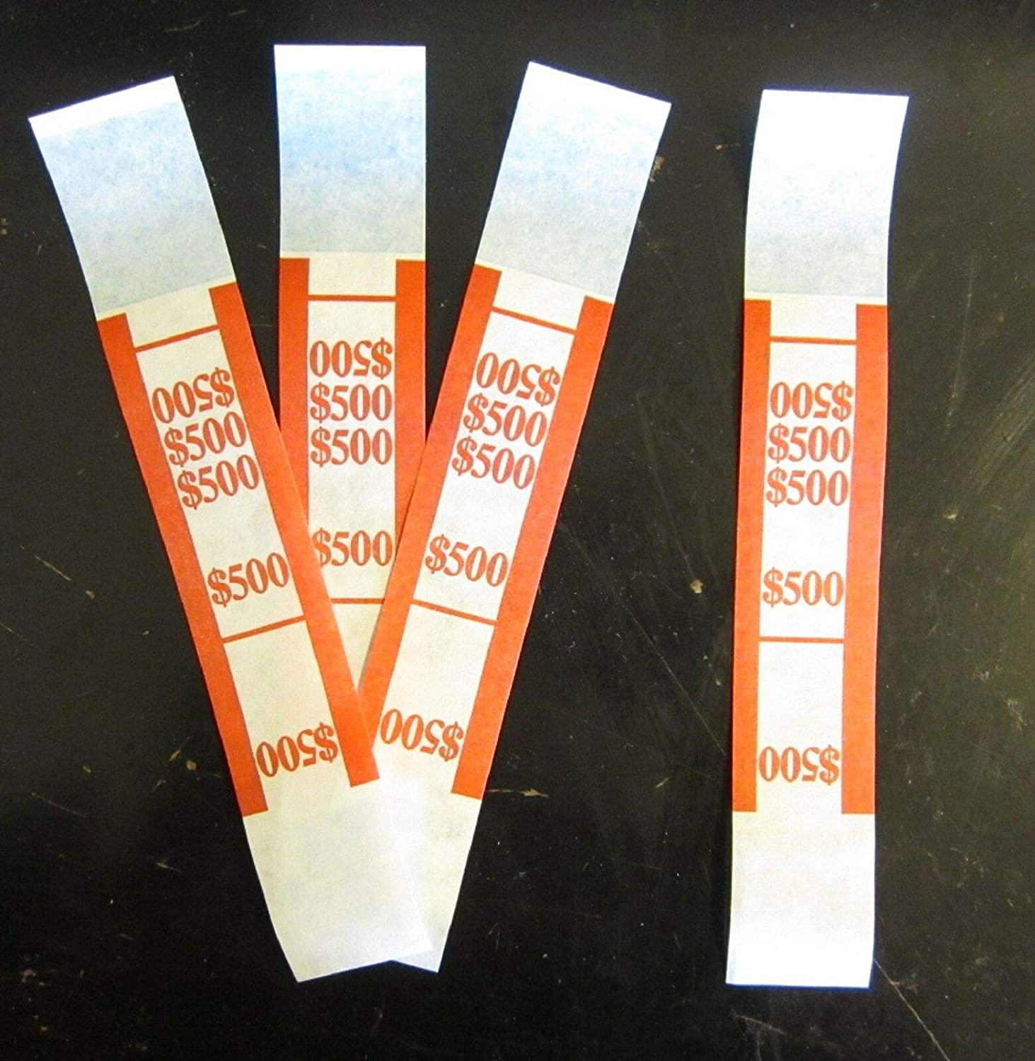 200 SELF Sealing Albuquerque Mall RED $500 Money Bands Bill Currency Straps Save money