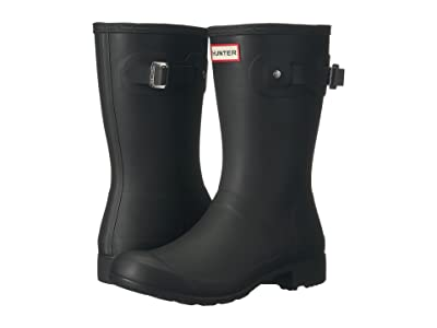 Hunter Original Tour Short Packable Rain Boots (Black) Women