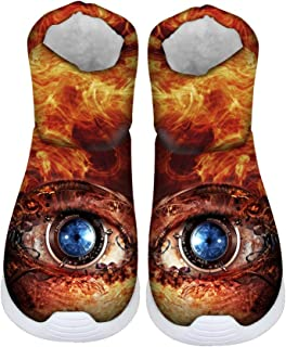 FOR U DESIGNS Cool Creative Eyes Print Kids Warm Winter Snow Boots