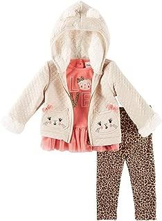 Little Lass Girls' 3 Pc Good Vibes Jacket Set