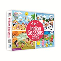 Ratna's 4 in 1 Indian Seasons Jigsaw Puzzle For Kids. 4 Jigsaw Puzzles 35 Pieces Each