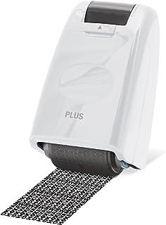 PLUS Japan 普乐士 保密乱码滚轮印章 Weiß ca.50m 白色