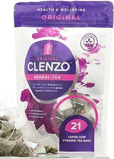 Té Desintoxicante Clenzo, Dieta de 7 a 21 Días Para Limpiar Todo el Cuerpo, el Colon y el Hígado - 11 Ingredientes Herbales Naturales Incluyendo Garcinia Cambogia - Sin Efecto Laxante Detox Tea