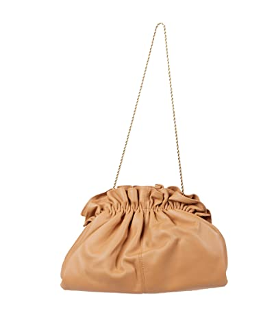 Loeffler Randall Loretta Gathered Clutch (Dune) Handbags