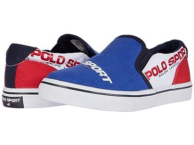 Polo Ralph Lauren Kids Thompson (Big Kid) (Royal/White/Red Canvas/Polo Sport Logos) Boy