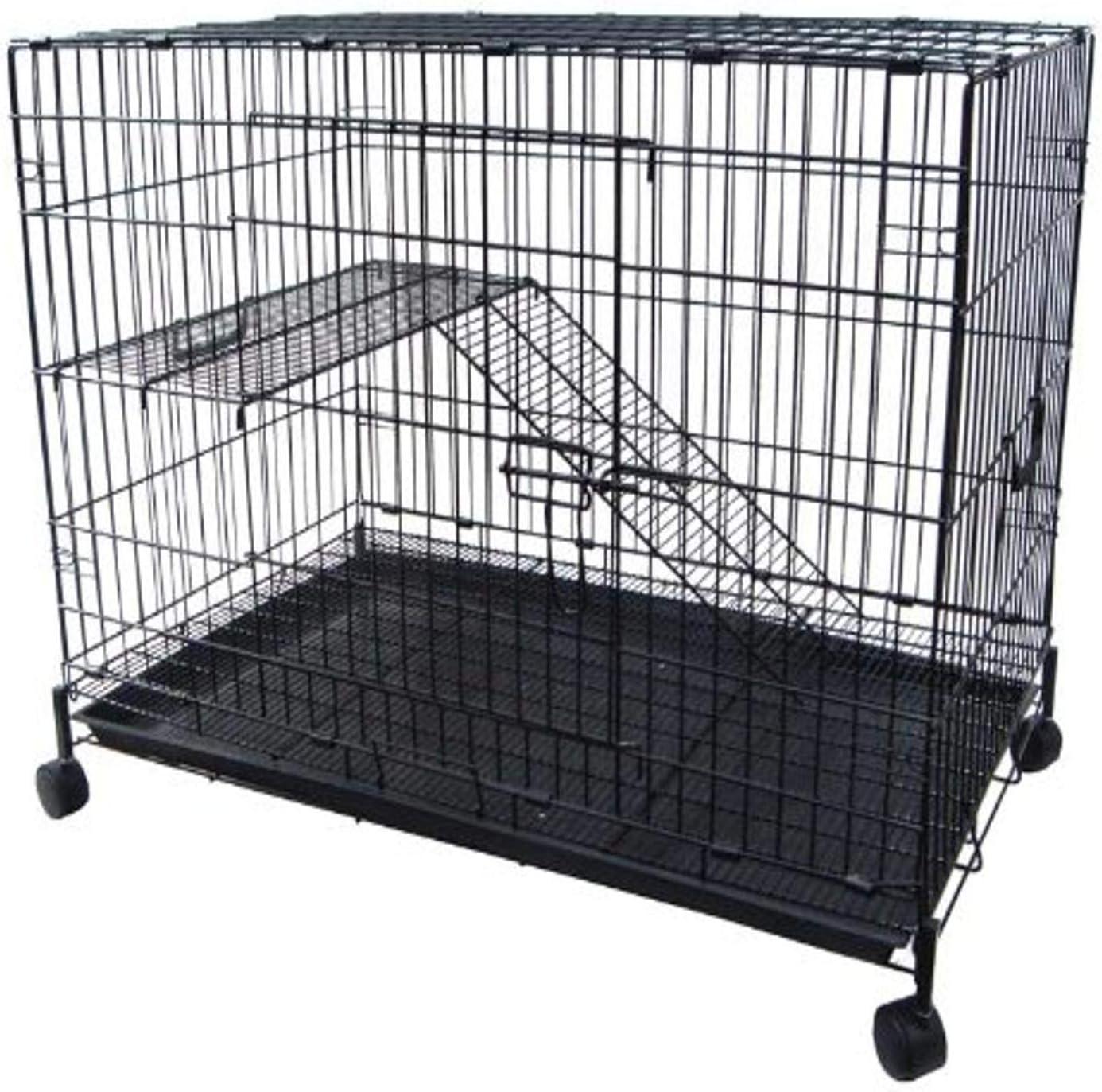 YML 2-Level Small Animal Chichilla Popularity Super sale Cat Cage Black Ferret