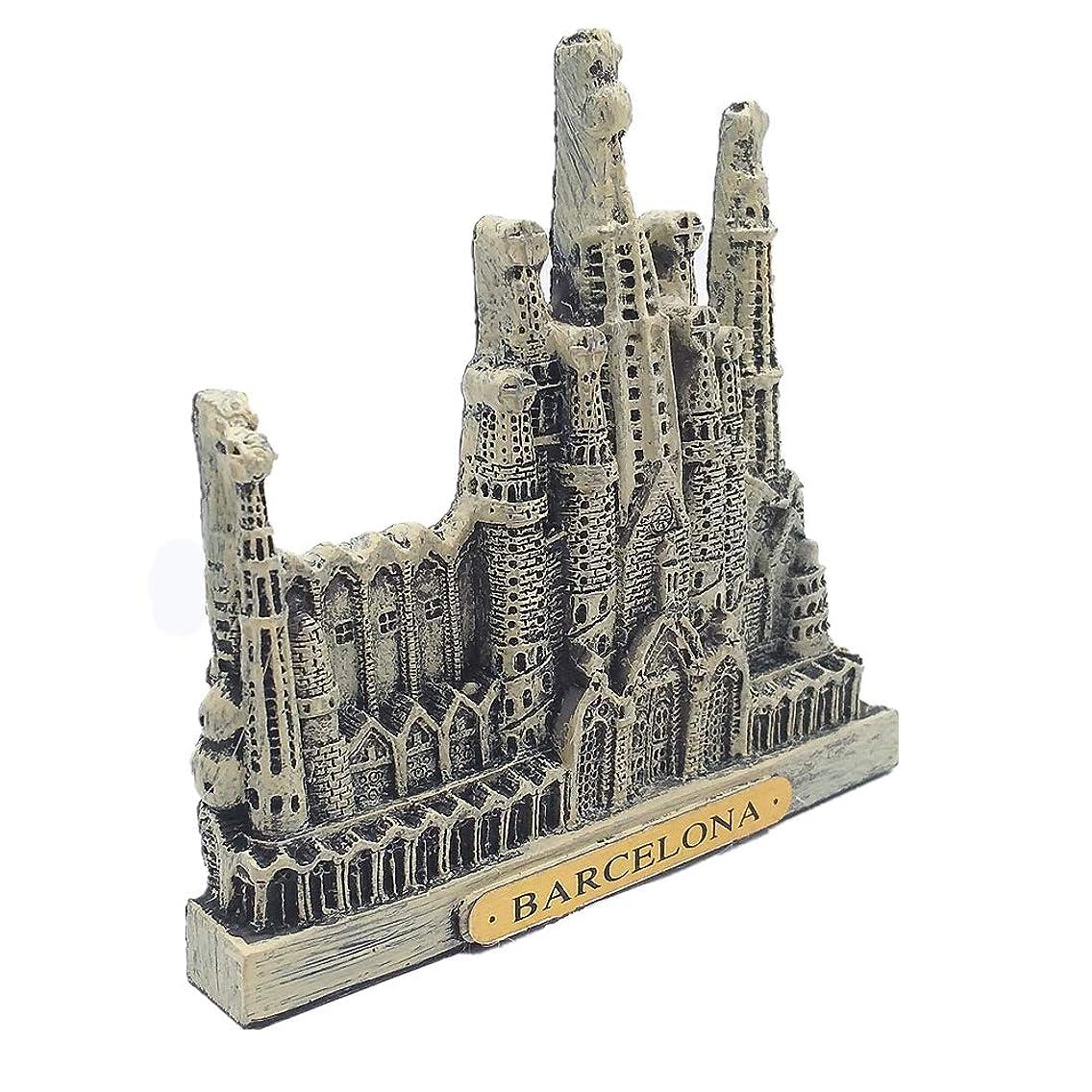 Barcelona Spain Souvenir 3D Fridge Magnet, Home& Kitchen Decoration polyresin Barcelona Spain Refrigerator Magnet