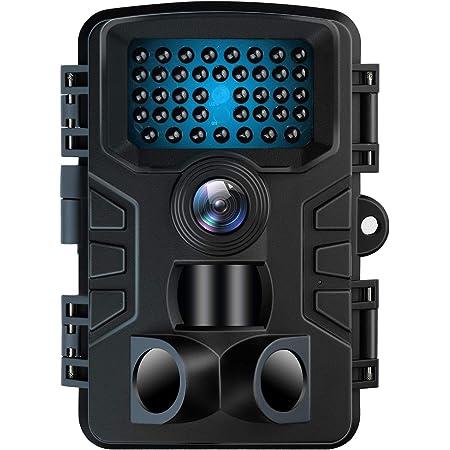 防犯カメラ トレイルカメラ VANBAR のデザイン 屋外カメラ 電池式 暗視カメラ 120°撮影範囲 人感センサー IP66防水防塵 野外用 2000万画素 1080PフルHD 夜間不可視赤外線ライト搭載 上書き録画 36ヶ月保証 日本語取扱説明書付き