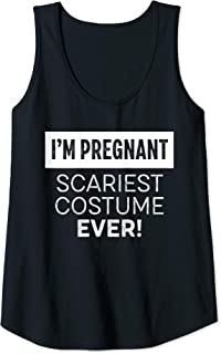Womens Halloween Pregnancy Shirt I'm Pregnant Scariest Costume Ever Tank Top