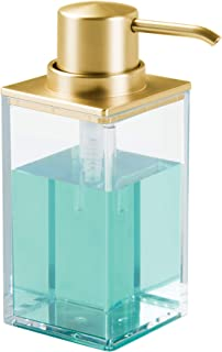 iDesign Gold InterDesign Clarity Soap Dispenser Pump for Kitchen, Bathroom Vanities-Clear/Brushed, 9.75-Inch by 5.75-Inch ...