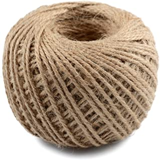 328 Feet Natural Jute Twine Best Arts Crafts Gift Twine Twine Durable Packing String for Gardening Applications