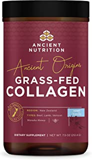 Ancient Origins, Grass Fed Collagen, Honey Vanilla, Formulated by Dr. Josh Axe, Sustainably sourced Non-GMO Collagen Pepti...