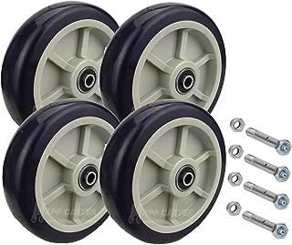Drywall & Sheetrock Dolly Polyurethane Wheels with Axles Set of 4 - USA Made
