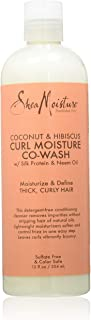 SHEA MOISTURE Coconut And Hibiscus Co Wash Conditioning Cleanser For Unisex, 236.58 ml, 8 Ounce