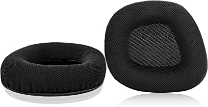JARMOR Replacement Memory Foam & Mesh Fabric Ear Cushion Pads Cover for Corsair Void & Corsair Void PRO RGB Wired/Wireless Gaming Headset ONLY (Black)