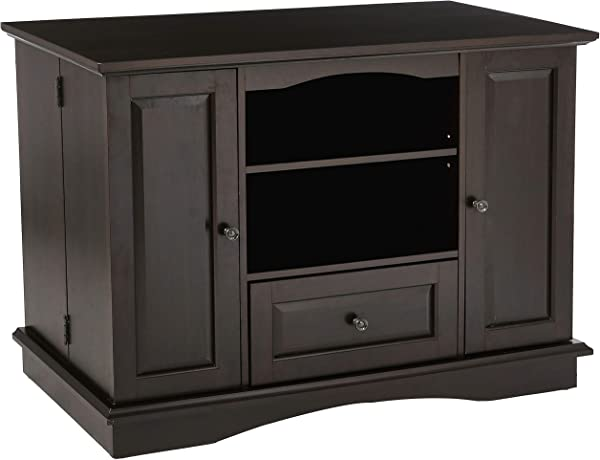 Rockpoint Milano Highboy Style Wood TV Stand Media Console 42 Inch Raisin