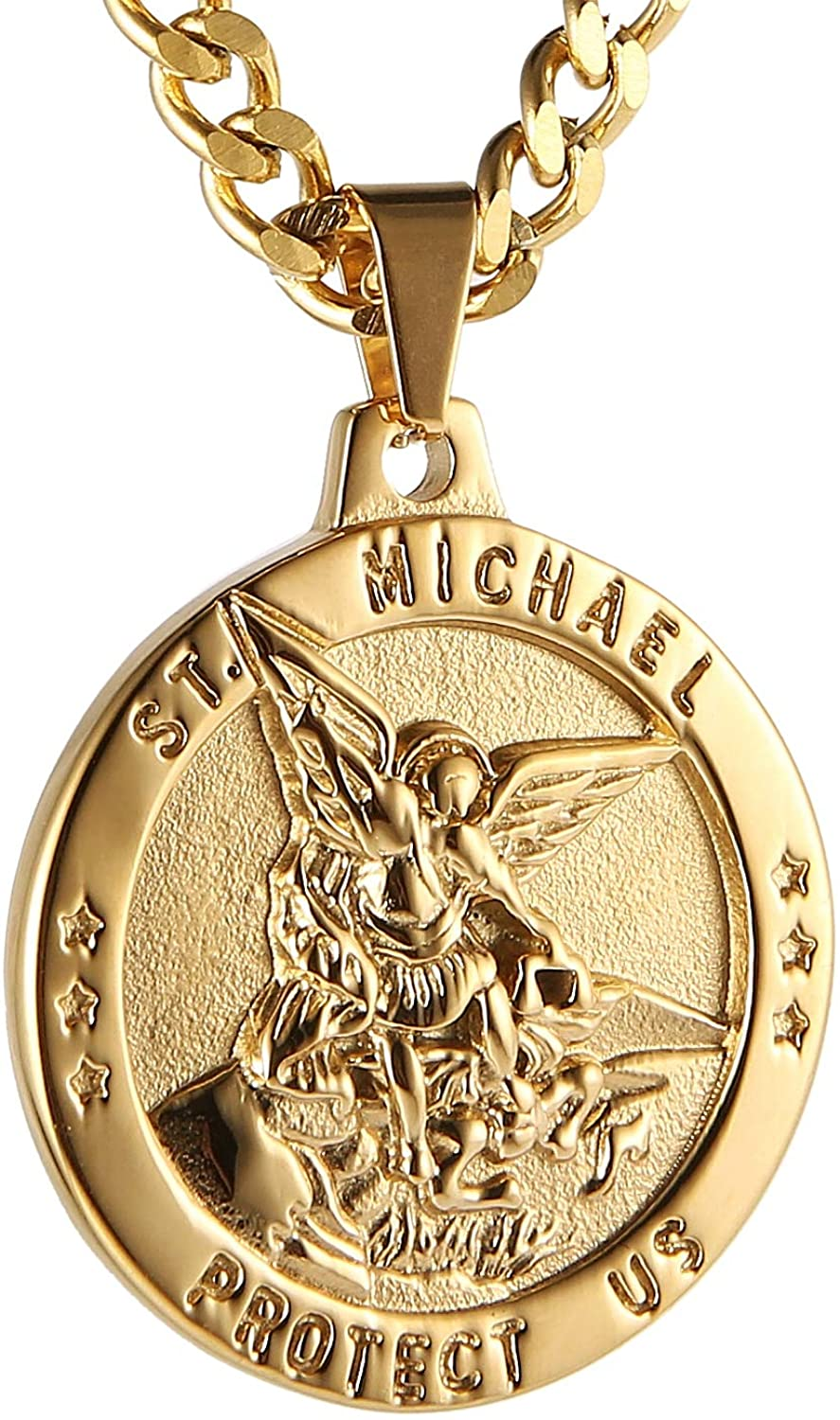 HZMAN St Max 59% OFF Michael Limited price The Archangel Am Catholic Steel Stainless Medal