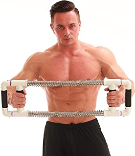GoFitness Super Push Down Bar - Chest and Arm Workout Machine - Total Upper Body Workout and Strength Training - Portable Equipment for Home Exercise