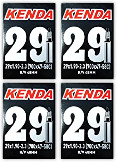 Kenda 29er Bicycle Tube 29x1.9/2.3 (48mm Presta R/V) - FOUR PACK w Decal/Sticker