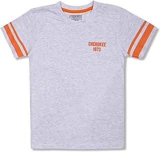 Cherokee Boy's Solid Regular T-Shirt (CCOBRNK10131G09_Mustard 11Y)