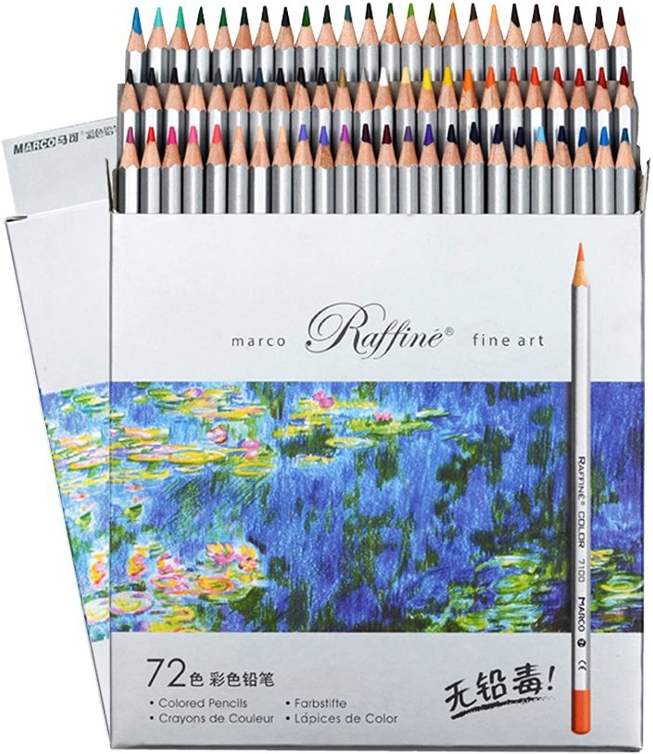 colord Pencils 72 coloring Pencils Professional color Pencils for Adult coloring Books by FUNLAVIE