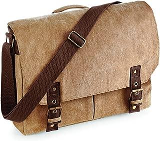 Quadra Vintage Canvas Satchel Messenger Bags (12 Litres) (One Size) (Sahara)