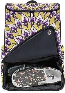 DEZIRO - Mochila para ordenador portátil con plumas abstractas de pavos reales para mujer y hombre, mochila de negocios para colegio universitario, mochila de negocios