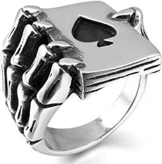 Best silver skull rings for sale Reviews