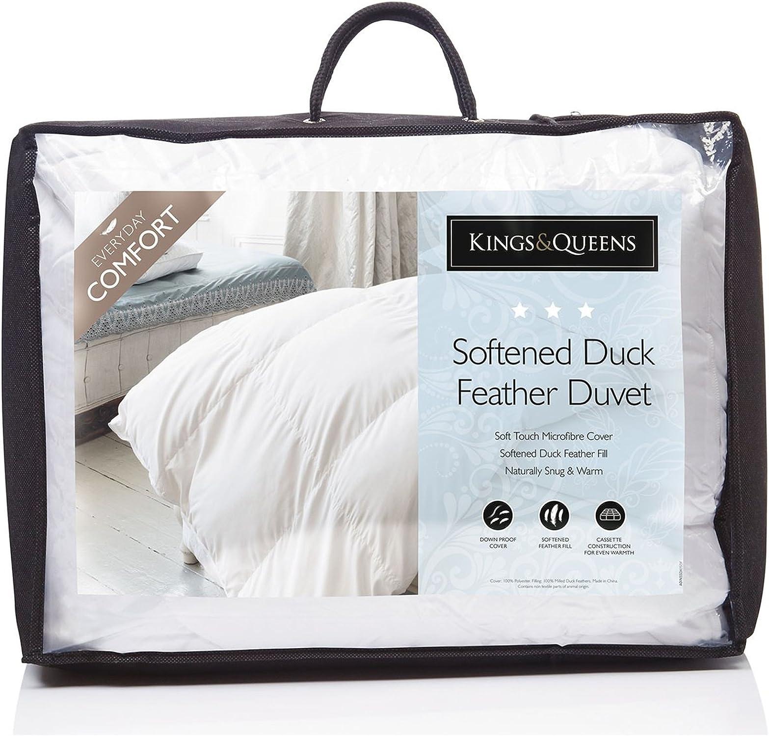 HLS - The Fine Bedding Company Fine Parure de lit Company Naturel Kings & Queens Ramolli en plumes de canard TOG 13,5couettes Super king Taille