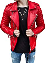 Aries Leathers Men's Real Lambskin Leather Genuine Motorcycle Jacket MJ11