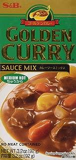 S & B Golden Curry Sauce Mix, Medium Hot, 3.2 oz