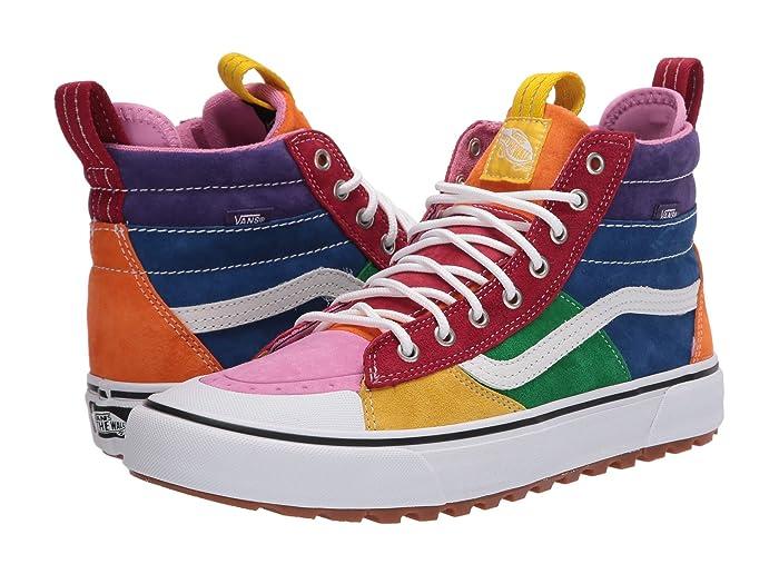 Mens Retro Shoes | Vintage Shoes & Boots Mens Shoes Vans Sk8-Hi MTE 2.0 DX MTE Rainbow $84.99 AT vintagedancer.com