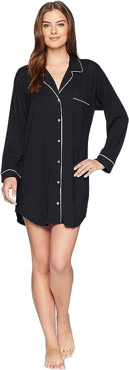 Bedhead long sleeve stretch knit henley night shirt  ca7f37492