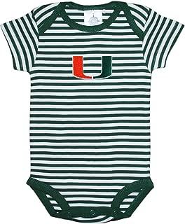 University of Miami Hurricanes Baby Striped Bodysuit