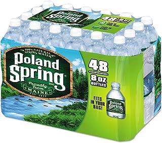 Poland Spring Half Pint Natural Spring Water 8 oz - Pack of 48