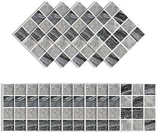 Elinala Azulejos Adhesives, Cenefas Adhesivas, 30 Piezas (10 x 10CM) Duraderas Impermeables Mate Autoadhesivas Pegatinas d...