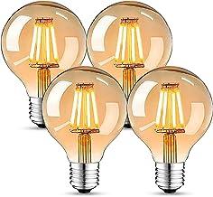 Edison Vintage gloeilamp, Edison LED-lamp warm wit E27 4W G80 Retro gloeilamp Vintage antieke gloeilamp Ideaal voor nostal...