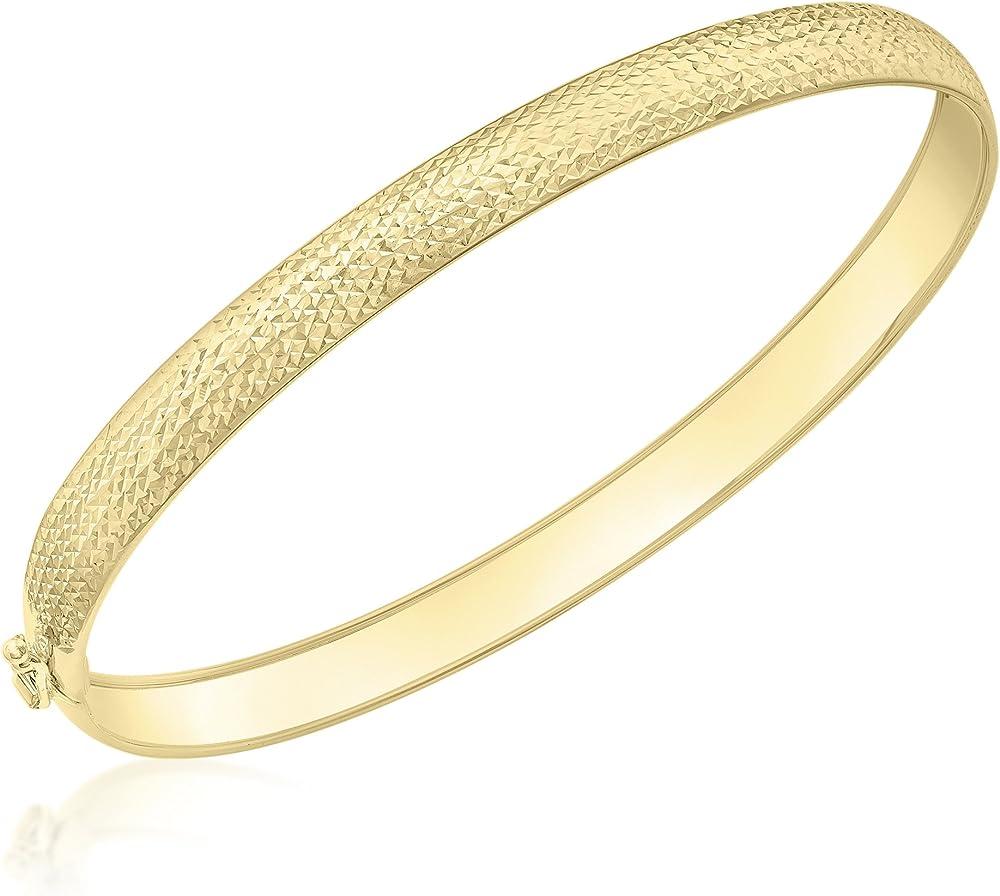 Carissima gold braccialetto flessibile da donna in pino tagliato a diamante, oro giallo 9k 1.32.0769