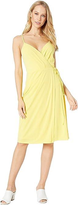 Cocktail Faux Wrap Knit Dress