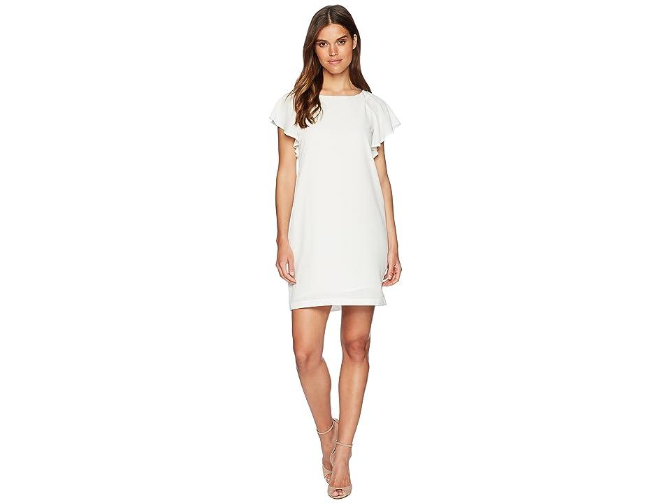 CATHERINE Catherine Malandrino Daiva Scoop Neck Ruffle Short Sleeve A-Line Dress (Bright White) Women