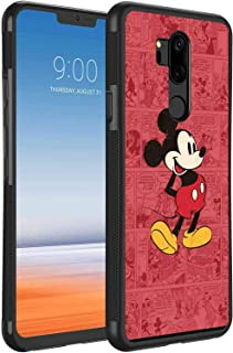 Phone Case Fit LG G7 ThinQ Cartoon Classic Disney Icon Mickey Mouse Old Oldie Red Ringtones and Wallpapers