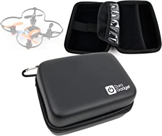 DURAGADGET Exclusive Hard Shell EVA Box Case with Carabiner Clip & Twin Zips in Black - Suitable for The UDI U839 Drone/Quadcopter
