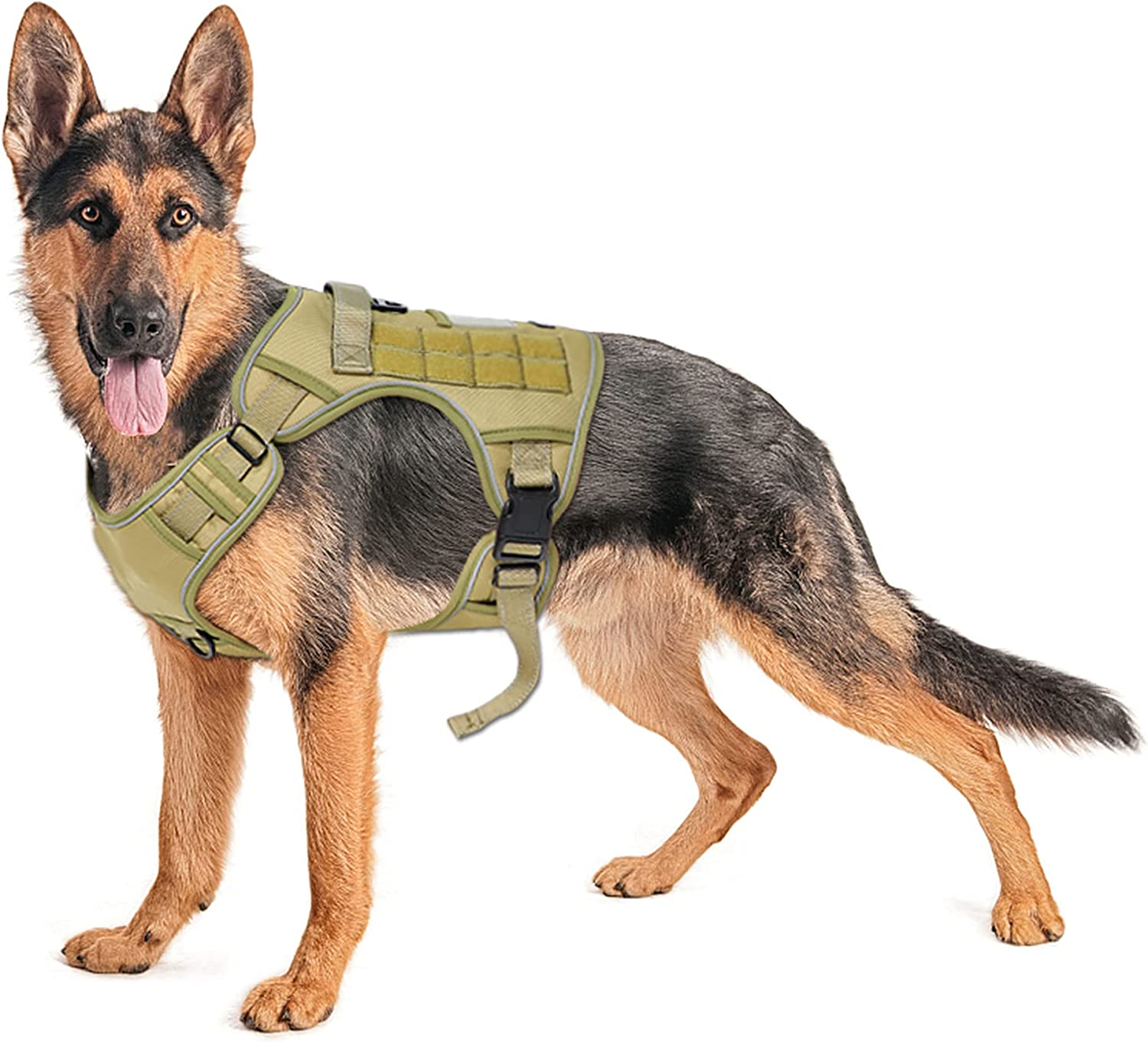 Ranking TOP17 MIEMIE Tactical Dog Harness Working MOLLE with Vest Great interest Handle