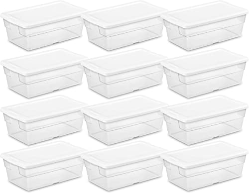 new arrival Sterilite 16428012 6 Quart/5.7 online sale online sale Liter Storage Box, White Lid with Clear Base (Pack of 12) online sale