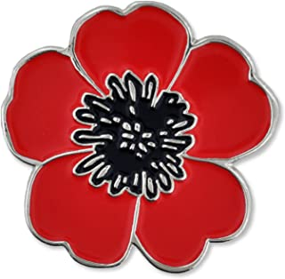 PinMart Red Poppy Flower Remembrance Memorial Day Lapel Pin w/Magnetic Back