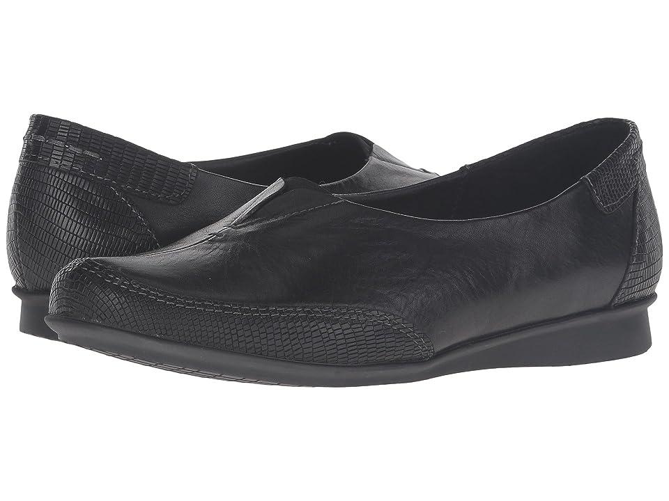 Taos Footwear Marvey (Black Leather) Women