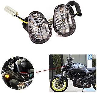 kemimoto Fits 2017 Yamaha FZ 07 FZ 09 FZ6R R1 R3 R6 LED Turn Signal Blinker Light For MT07 MT09 2014 2015 2016 2017