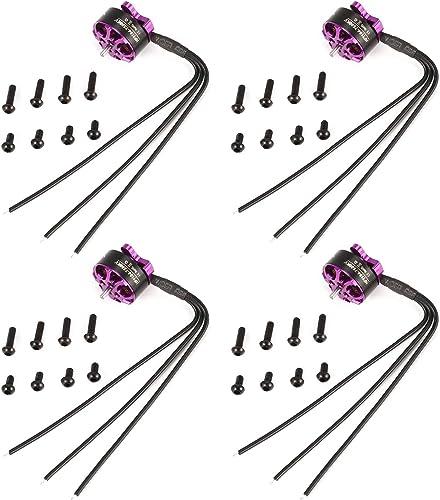 FairytaleMM 4pcs HGLRC Flame 1104 7500KV 2S Moteur Brushless pour RC Mini FPV Racing Drone Violet