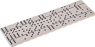 Double 6 Jumbo Size Domino Tiles with Spinner in Vinyl Case, Black
