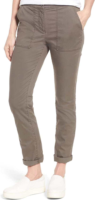 Eileen Fisher Womens Slim Organic Cotton Blend Pants Rye 2, 4, 6